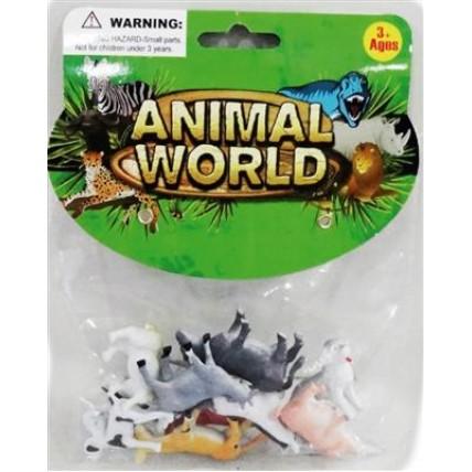 Animales De La Granja En Bolsa X 6 Unidades