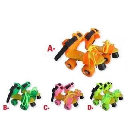 Roller Extensible Con Freno De 4 Ruedas De 46mm Calce Del (