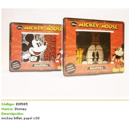 Billetera Ecologica Papel Mickey Mouse