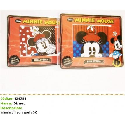 Billetera Ecologica Papel Minnie Mouse