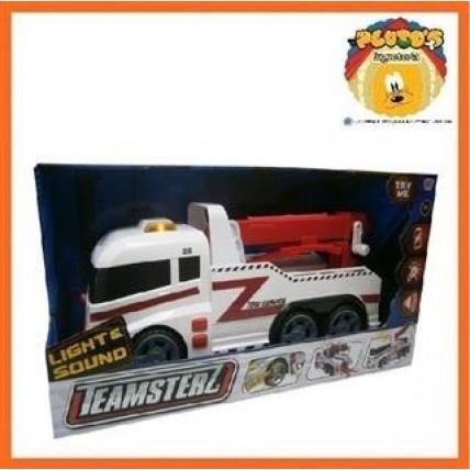 Camion Remolque Teamsterz Con Luz Y Sonido 35 Cm .