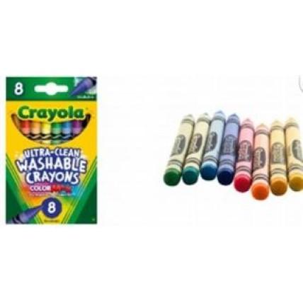 Crayones De Colores Lavables X 8