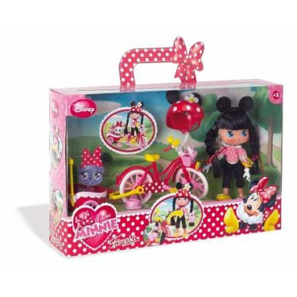 Muñeca Minnie Bicicleta