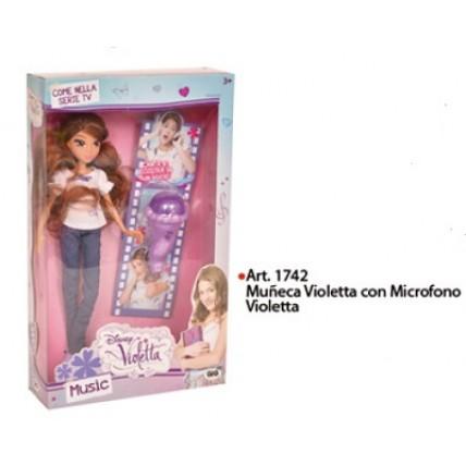 Muñeca Violetta Con Microfono **tv**