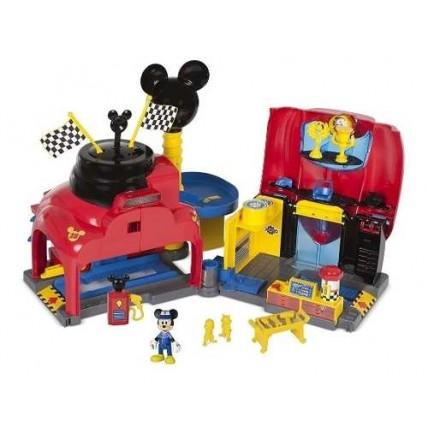 Juego Garage Con Figura Y Accesorios Mickey Mouse