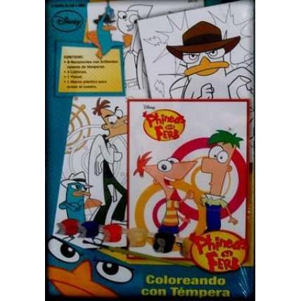 Coloreando Con Temperas Phineas Y Ferb