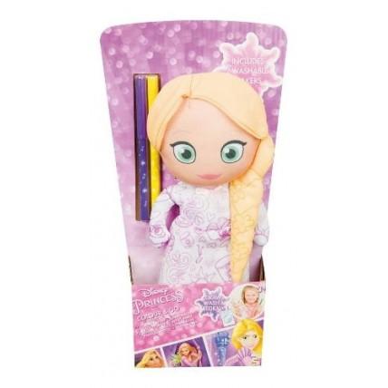Muñeca De Tela Para Colorear - Rapunzel