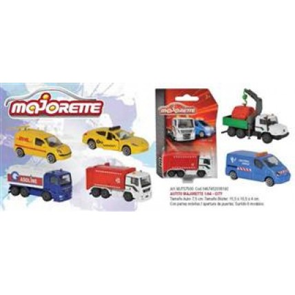 Autito Majorette 1:64 - City Con Partes Moviles/apertura Pue
